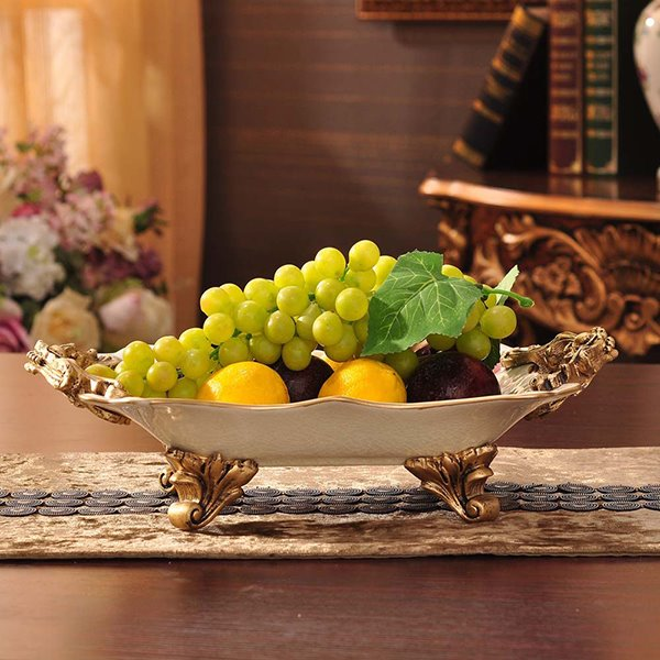 Wonderful European Style Flower Fruit Plate Desktop Decoration