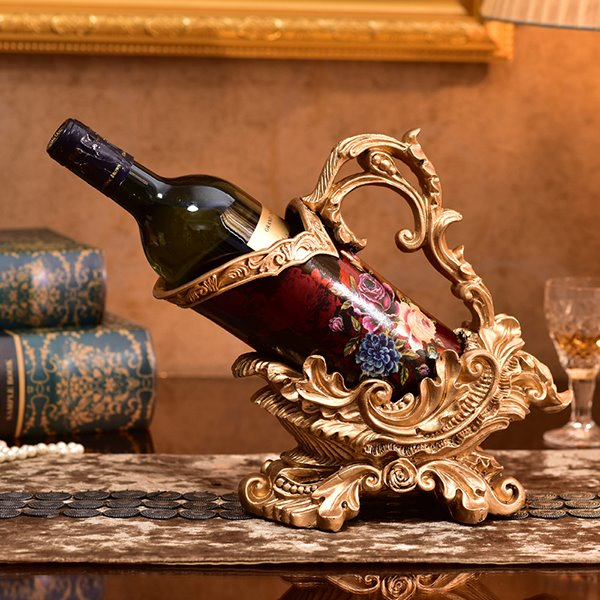 Delicate Workmanship Ceramic and Resin Red Wine Rack