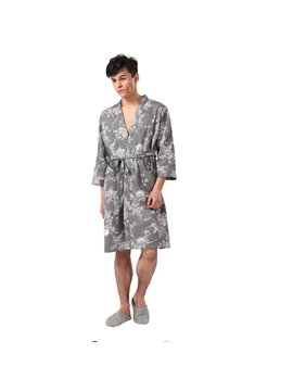 New-Arrival 100% Cotton Cropped Sleeves Bathrobe