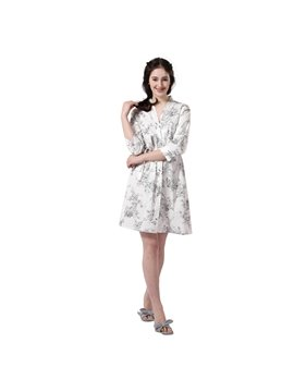 High-Quality 100% Cotton Cropped Sleeves Bathrobe