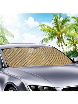 Environmental Plastic Particles Foil Material Golden Style Car Sun Shades