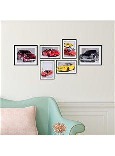 Modern Fashion 6 Types of Car Photo Frame Wall Sticker