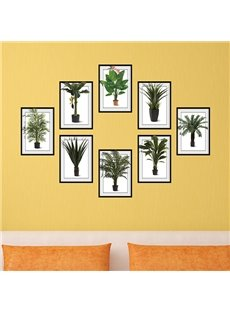 Simple Green Plants Photo Frame Wall Sticker