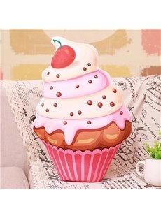 Pretty Multilayer Ice Cream Design PP Cotton Throw Pillow
