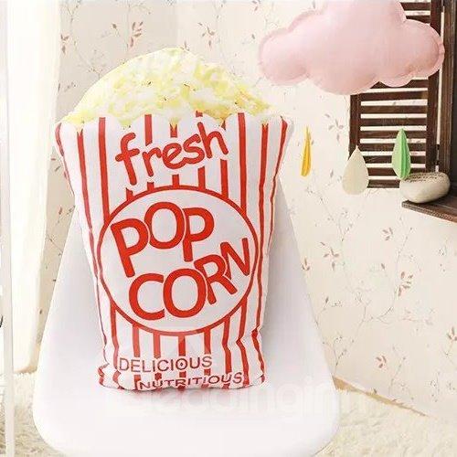 Top Class Fresh Pop Corn Design PP Cotton Throw Pillow