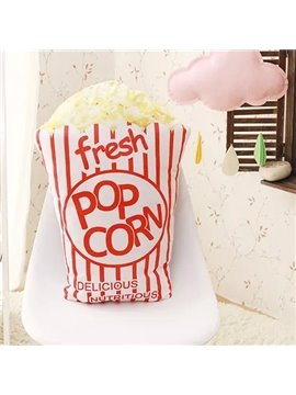 Top Class Fresh Pop Corn Design PP Cotton Throw Pillow