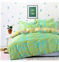 Fresh Greek Key Pattern 4-Piece Cotton Duvet Cover Sets