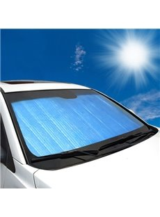 Light Blue Double Laye Sun Block Car Sun Shades