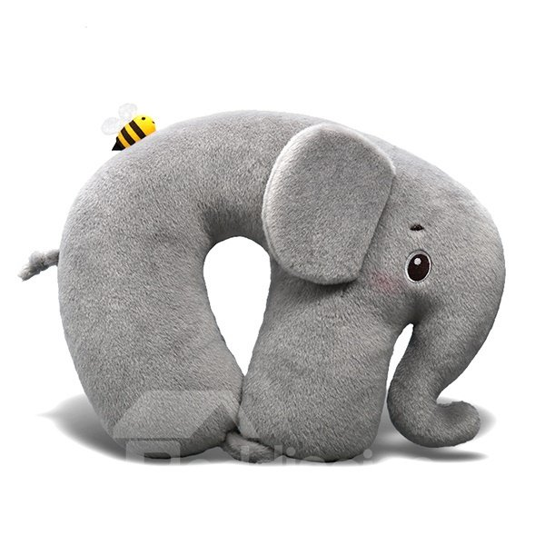 Creative Super Soft Elephant Plush U-shape Pillow