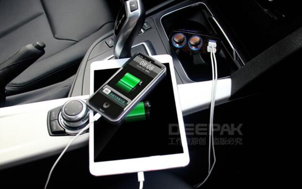 90 Degrees Rotatable Design Black Technology Car Charge