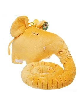 Lovely Yellow Long Nose Elephant Plush Throw Pillow