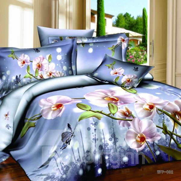 Amazing Phalaenopsis Light Purple 2-Piece Pillow Cases
