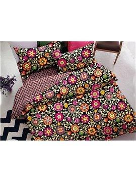 Superb Quality Floral 4-Piece Polyester Duvet Cover Sets