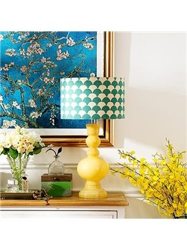 Modern Yellow Calabash American Style Table Lamp