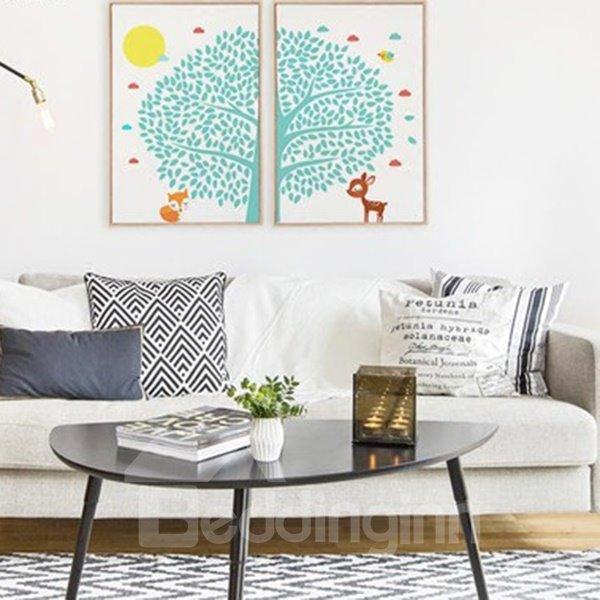 Creative Simple Tree and Animal Pattern Wall Art Prints