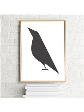 Simple Countryside Style Bird Pattern Wall Art Print