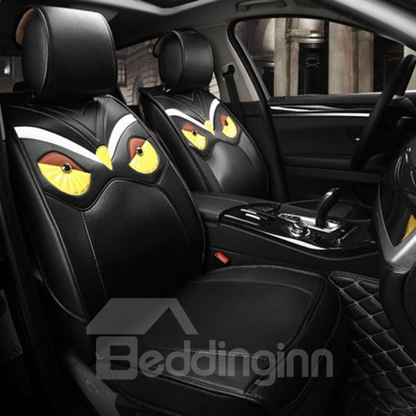 Creative Cute Eagle Style And PU Leather Universal Car Seat Cover