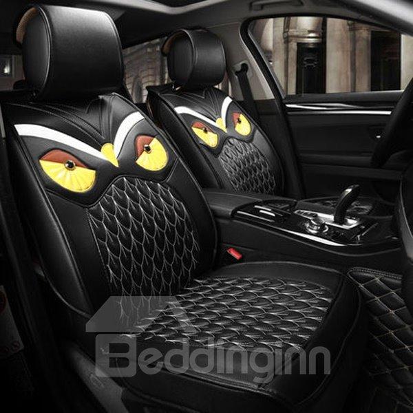Lifelike Ferocious Eagle Pattern PU Leather Universal Five Car Seat Cover