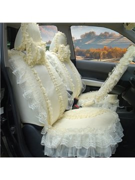 Pure Beautiful Lace Flower Most Popular Universal Car Seat Cover