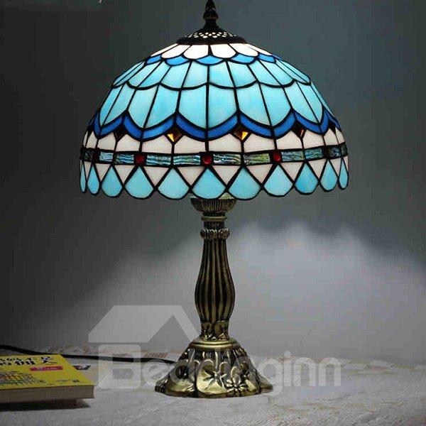 Creative Warm Blue Mediterranean Style Table Lamp