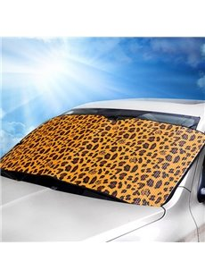 Classic Charming Leopard Style Aluminum Foil Car Sun Shades