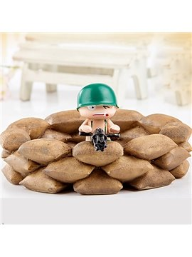 Personality Fighting Soldier in Fort Design Ashtray