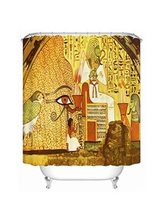 Egyptian Wall Painting Print 3D Bathroom Shower Curtain