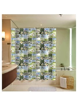 Various Chrysanthemum Collage Print 3D Bathroom Shower Curtain