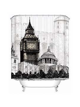 London Big Ben Print 3D Bathroom Shower Curtain