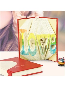 Perfect Colorful Love Shaped Book Folding DIY Gift