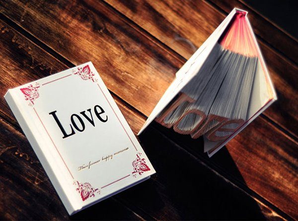 Romantic Red Love Shaped Book Folding DIY Gift