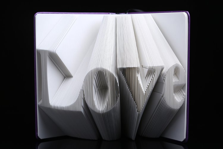 Amazing Exquisite Love Shaped Book Folding DIY Gift