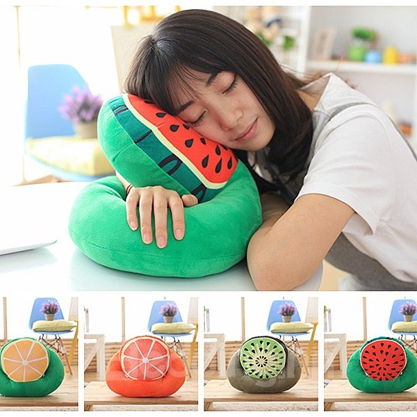 Sweet Multi-Functional and Detachable Watermelon Air Conditioning Blanket Nap Pillow 12183789