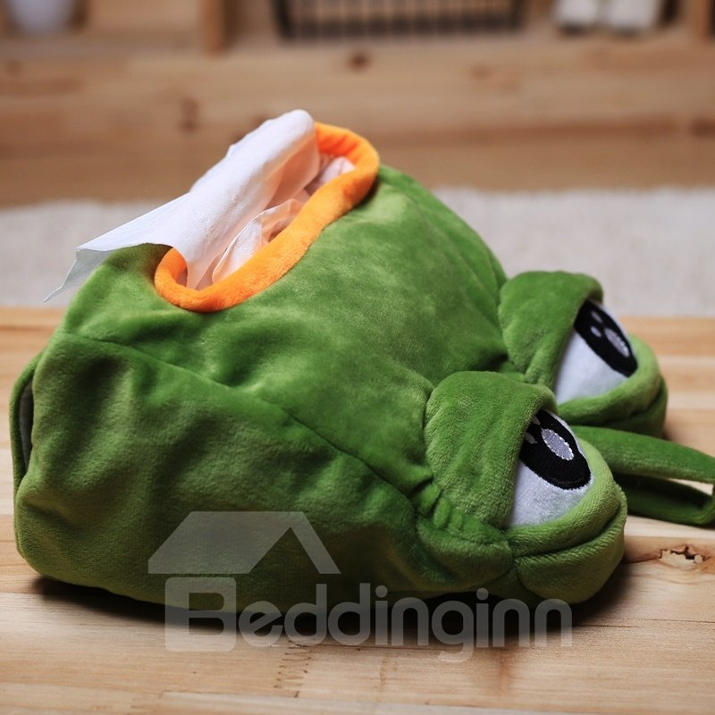 Funny Greem Sad Frog With Big Eye Tissue Box Beddinginn Com