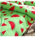 Fresh Watermelon Print Polyester 4-Piece Duvet Cover Sets