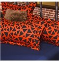 Bright Abstract Triangle Print 4-Piece Polyester Bedding Sets