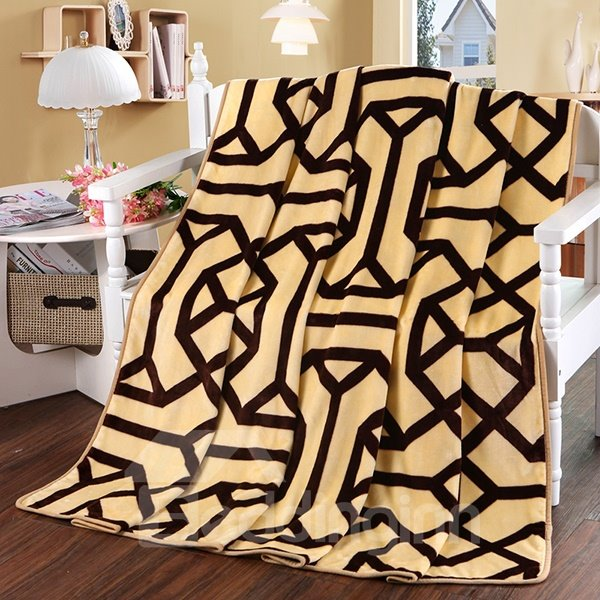 Classy Concise Stripes Print Polyester Blanket