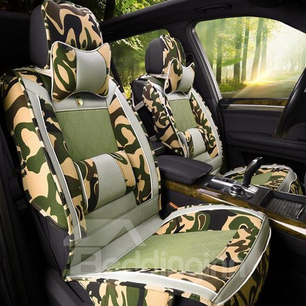 Classic Army Green Camouflage Style Cost-Effective Universal Car Seat Cover