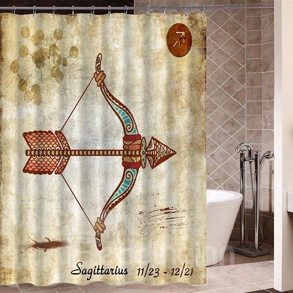 Exotic Sagittarius Symbol Print 3D Bathroom Shower Curtain