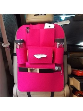 Super High Quality Comfortable Felt And Anti-Kicking Car Backseat Organizer