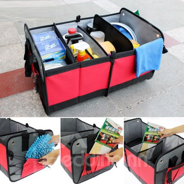Popular And Fashionable Design Super High Capacity Waterproof Foldable Car Backseat Organizer