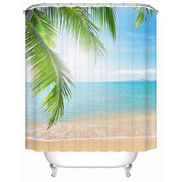 Charming Sunny Beach Print 3D Shower Curtain