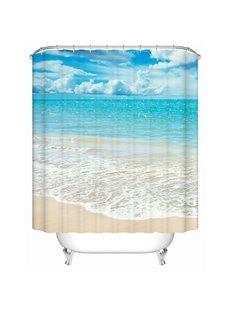 Beautiful Beach in Sunny Day Print 3D Bathroom Shower Curtain