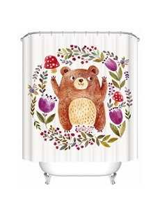 Clip Art Lovely Beer Cheer Print 3D Bathroom Shower Curtain