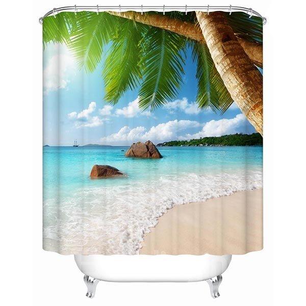 Wonderful Beach Nature Scenery Printing 3D Shower Curtain