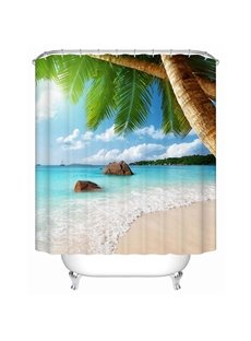 Wonderful Beach Nature Scenery Printing 3D Shower Curtain