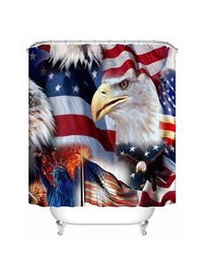 Typical U.S. Symbol Print 3D Bathroom Shower Curtain
