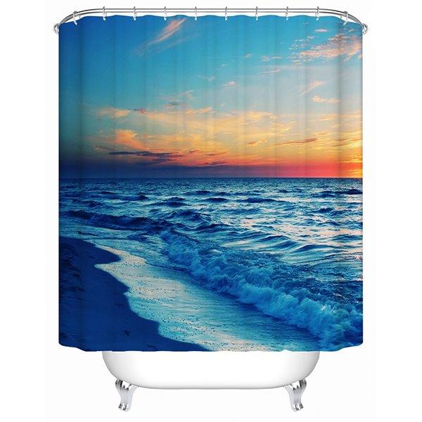 Seaside in the Sunset Print 3D Bathroom Shower Curtain