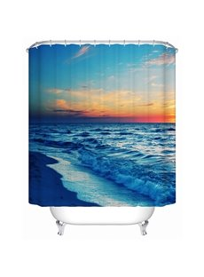 Seaside in the Sunset Print 3D Bathroom Shower Curtain