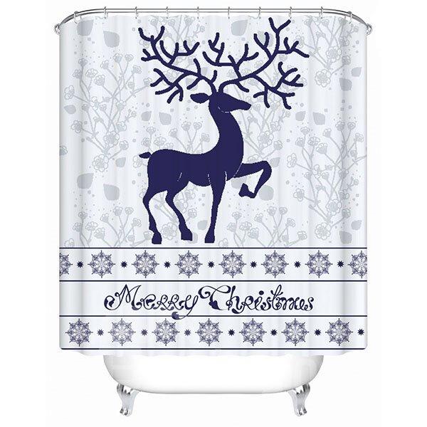 Merry Christmas Theme 3D Printing Bathroom Shower Curtain
